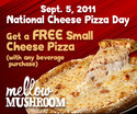 photograph about Mellow Mushroom Printable Coupons named Mellow Mushroom printable coupon Cost-free cheese pizza w/ consume