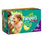 c84c15ed89231 Pampers Baby Dry Diapers Economy Plus Pack in Size 6 (128 Count)  25 ...