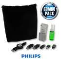Philips Retractable USB 2.0 Cable Bundle w/ Screen Cleaning Kit