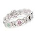 $140.003.00 ct. t.w. Multi-Gem Bracelet W/Diamonds In Sterling Silver