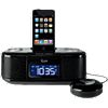 iLuv dual alarm clock with iPod or iPhone dock and bed shaker IMM153 (Black)