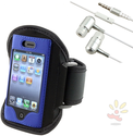 Deluxe ArmBand / Headset Bundle for Apple iPhone 4 / 4S