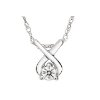 1/10 Carat Diamond 14K White Gold Pendant w/ Chain