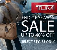 Up to 40% OffTumi End of Season Sale @ Luggage Online