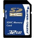 $17.45包邮Super Talent 32GB SDHC Class 10 高容量SD存储卡