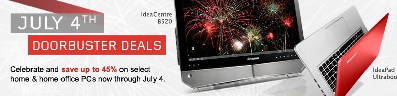 Lenovo July 4th Doorbuster Deals Up To 45 Off Select Laptops 45 Off Dealmoon