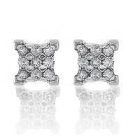 0d5e9579c 1/4 Carat tw Square Diamond Stud Earrings in Sterling Silver $39 ...