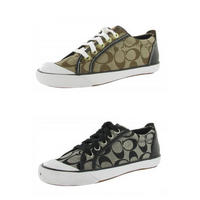 6493b734bab7  69.99 COACH Barrett Signature Jacquard Leather Fashion Sneaker Womens Shoes