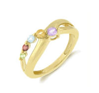 $24.95Gemstone Journey Criss Cross Ring in Gold Plated Sterling Silver