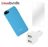 $9Apple iPhone 5 Case + Screen Protector + USB Car Charger