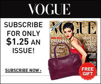 Free Burgundy Satchelwith Vogue one year subscription (12 issues)
