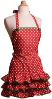 $8Women's Apron Holiday - Deck the Halls
