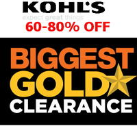 c23af03a17 Expired 60% to 80% off Kohl s Gold Star Clearance Sale + extra 15% to 20%  off via coupon codes