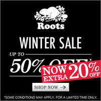 Up to 50% Off + Extra 20% OffSale @ Roots USA