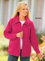 $11Blair Women's Nylon Fully-Lined Crinkle Jacket