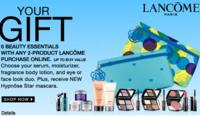 20% OFF + Free 6-piece giftwith any 2 product lancome purchase @ Carson's