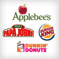 $5 For $10 gift card at Papa Johns, Burger King, Dunkin Donuts, or Applebee's