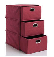 $9.99Nonwoven 3-Layer Drawer Storage Box-Burgundy