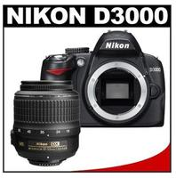$259.95Nikon D3000 Digital SLR Camera Body - Factory Refurbished  & 18-55mm VR Lens