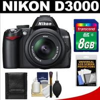 $279.95Nikon D3000 Black 10.2 MP DX-Format Digital SLR Camera with AF-S DX NIKKOR 18-55mm f/3.5-5.6G VR Lens (refurbished)