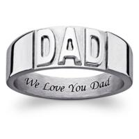 Free Shippingon Personalized Rings for Dad over $39.99 @ LimogesJewelry.com