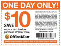 10 off 40 printable coupon officemax