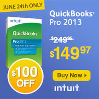Today Only! (6/24) 40% Off QuickBooks Pro @ Intuit Small Business