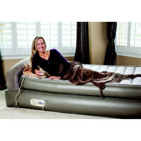 99 Aerobed 18 Queen Air Mattress With Headboard And Flocked