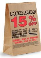 picture relating to Menard Printable Coupons called Bag Sale @ Menards 15% Off - Dealmoon