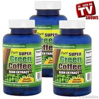 3bottles Pure Super Green Coffee Bean Extract Chlorogenic Acid