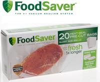 $25 off 5 Bags and Rolls + FREE 11-in Portion Pouch RollFoodSaver:购买任意5盒包装袋和保鲜膜, 额外立减$25 + 免运费