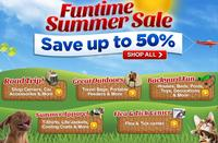 Up to 50% off + $25 off $100Funtime Summer Sale @PetFoodDirect