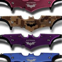 $6Batman Dark Knight Twin Blade Batarang Pocket Knife