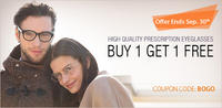 Buy 1, Get 1 Freeon High Quality Prescription Eyeglassses @ EyeBuyDirect.com