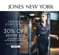 30% OffFriends and Family Sale @Jones New York