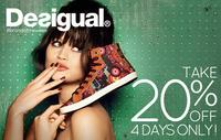 20% OFFDesigual's Fall Collection @ DNA Footwear