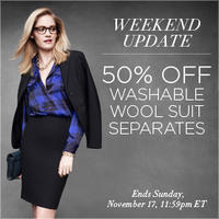 50% OffWashable Wools Suit Separates@ Jones New York
