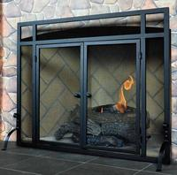 42% OffSingle Panel Fireplace Screen with Doors @ Northline Express