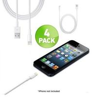 3-Foot 8-Pin Lightning to USB Cable 4-Pack