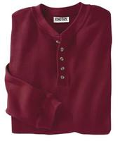 $7King Size Direct Men's Solid Waffle Weave Henley Shirt from $7 + $6 s&h