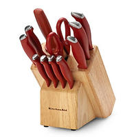 KitchenAid Classic Soft Grip Red 12-pc. Cutlery Set