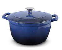 Sabatier 5.5 Quart Blue Cast Iron Dutch Oven