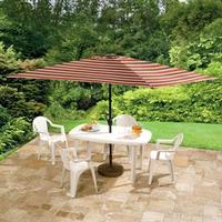 6.5' x 10' Rectangular Patio Umbrella