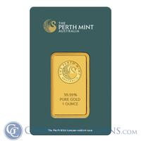 Deal of the Day1 oz Perth Mint Gold Bar .9999 Fine (In Assay)