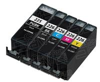 $1Compatible Canon PGI225 & CLI226 Set of 5 Inkjet Cartridges for Canon Pixma Printers