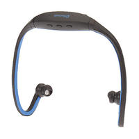 $6Stereo Bluetooth Neck-Band Headphone with Mic(Blue)