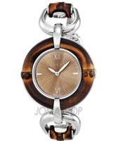 f1a61cb08cc Gucci Bamboo Brown Dial Stainless Steel Ladies Watch - Dealmoon