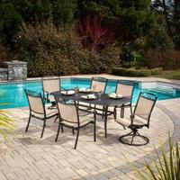 Hampton Bay Santa Maria 7 Piece Patio Dining Set @ Home Depot