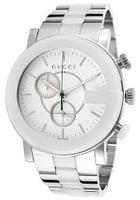529ce9a4efd Gucci Men s G Chrono White Dial Stainless Steel Watch - Dealmoon