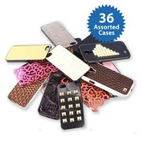 36-Pack: Assorted Protective Apple iPhone 5/5S Cell or Samsung Galaxy S4 Phone Cases